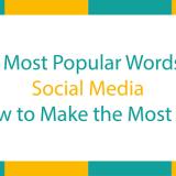 Most popular words on social media