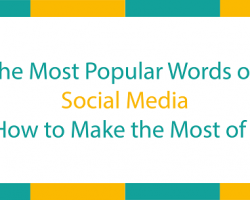 Most popular words on social media